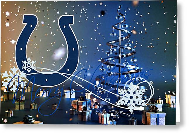 Indianapolis Colts Greeting Card by Joe Hamilton
