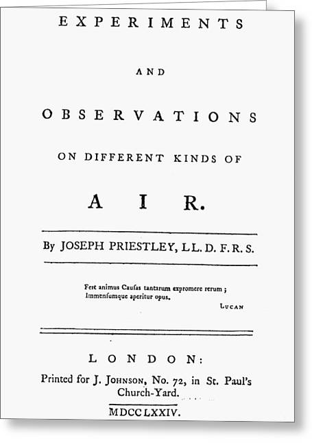 Joseph Priestley (1733-1804) Greeting Card