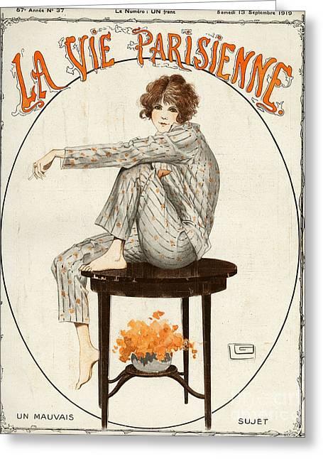 La Vie Parisienne  1919 1910s France Greeting Card
