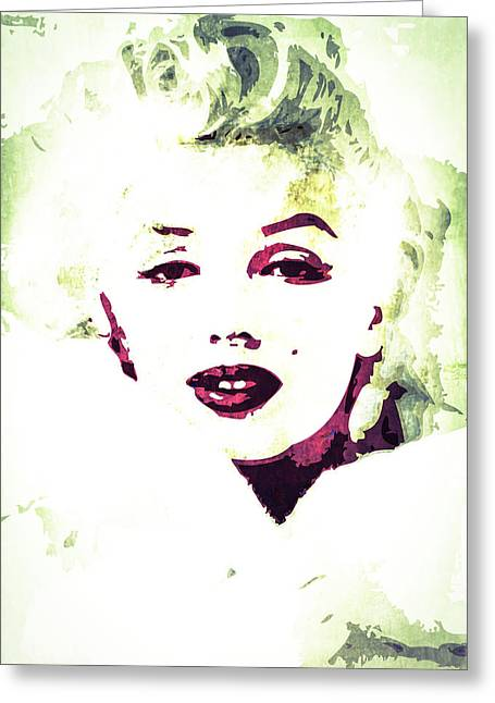 Marilyn Monroe Greeting Card by Svelby Art