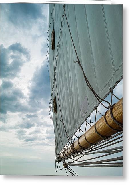 Massachusetts, Gloucester, Schooner Greeting Card by Walter Bibikow