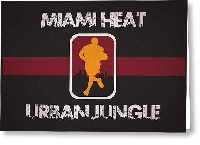 Miami Heat Greeting Card by Joe Hamilton