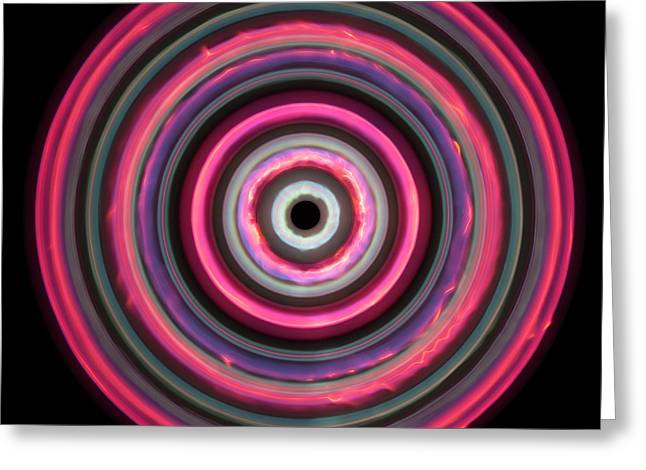 Multicoloured Light Trails Greeting Card