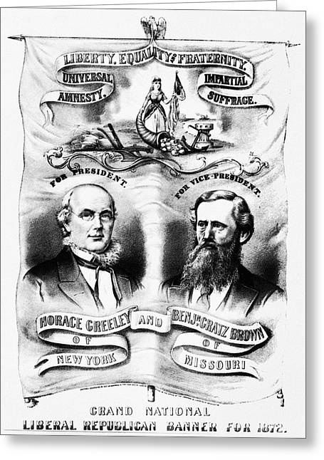 Presidential Campaign, 1872 Greeting Card by Granger