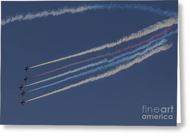 Red Arrows Greeting Card by J Biggadike