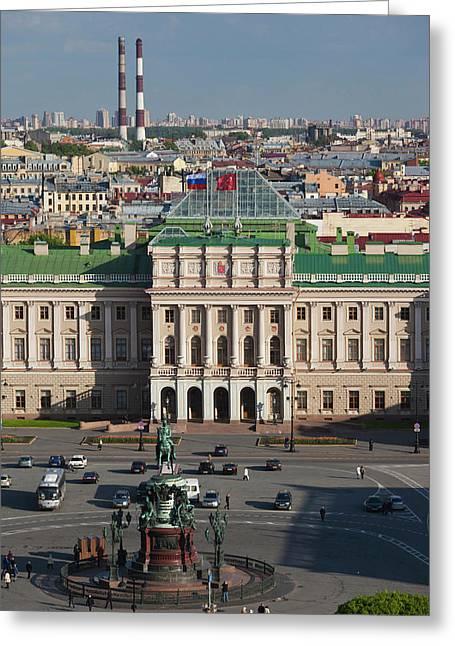 Russia, Saint Petersburg, Center Greeting Card by Walter Bibikow