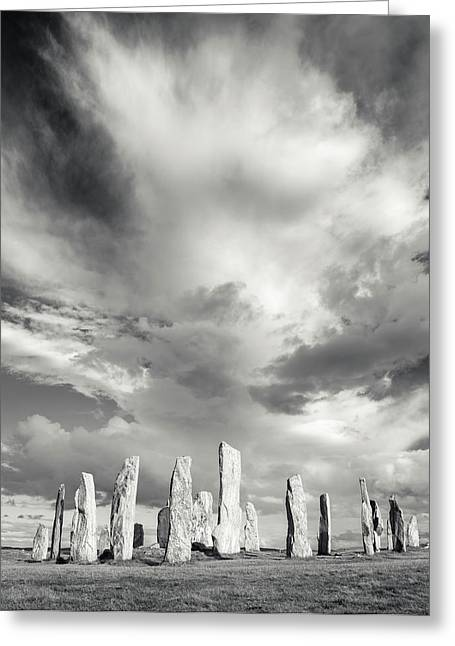 Standing Stones Of Callanish Greeting Card by Martin Zwick