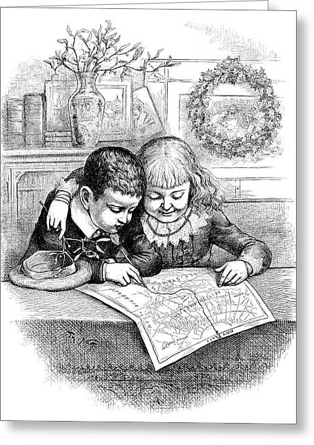 Thomas Nast Christmas Greeting Card by Granger