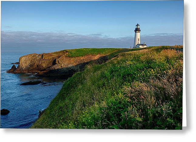 Usa, Oregon, Newport, Yaquina Head Greeting Card by Rick A Brown