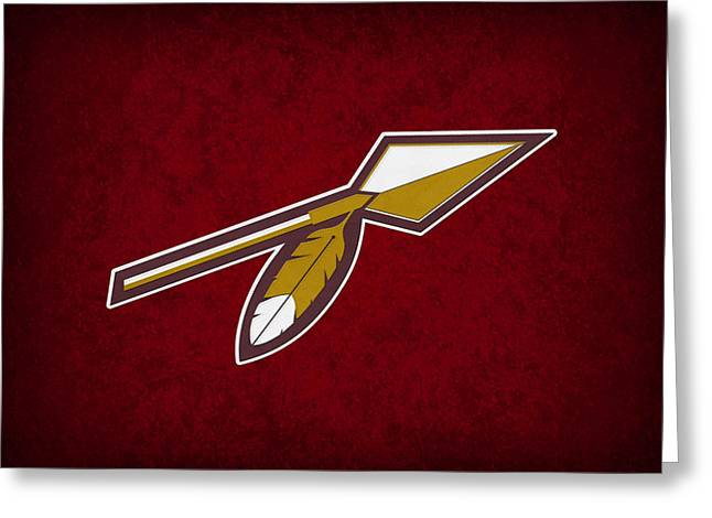 Washington Redskins Greeting Card by Joe Hamilton