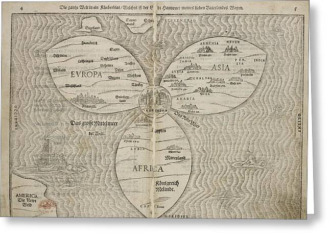 World Map Greeting Card by British Library