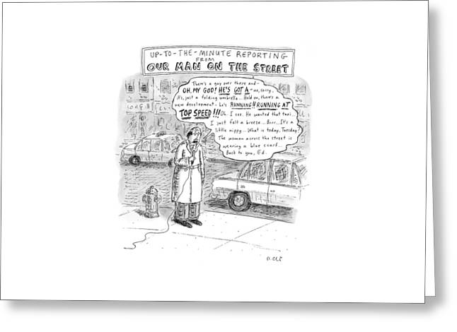 New Yorker February 9th, 2009 Greeting Card by Roz Chast