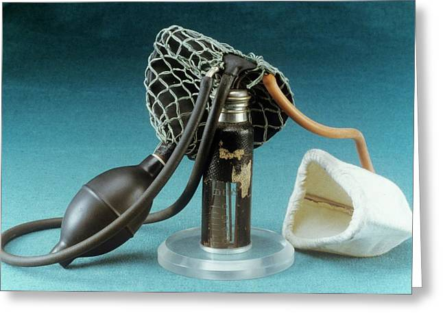 Anaesthetic Inhaler Greeting Card by Science Photo Library