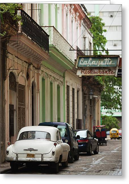 Cuba, Havana, Havana Vieja, Morning Greeting Card