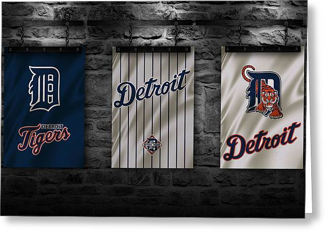 Detroit Tigers Greeting Card by Joe Hamilton