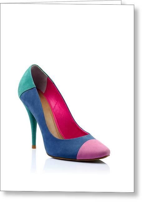 Fashionable Women Shoe Greeting Card by Nikita Buida