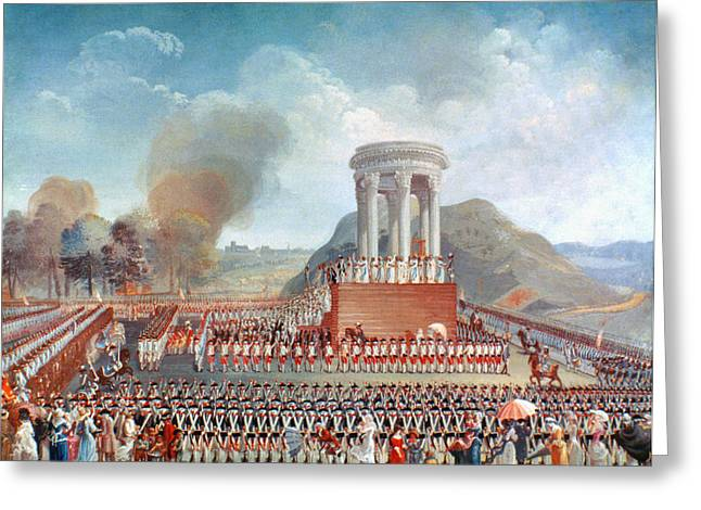 French Revolution 1790 Greeting Card by Granger