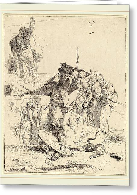 Giovanni Battista Tiepolo Italian, 1696-1770 Greeting Card by Litz Collection