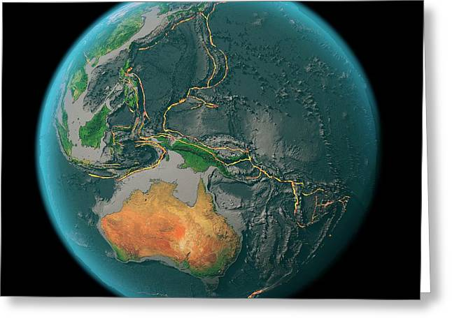 Global Tectonics Greeting Card by Karsten Schneider/science Photo Library