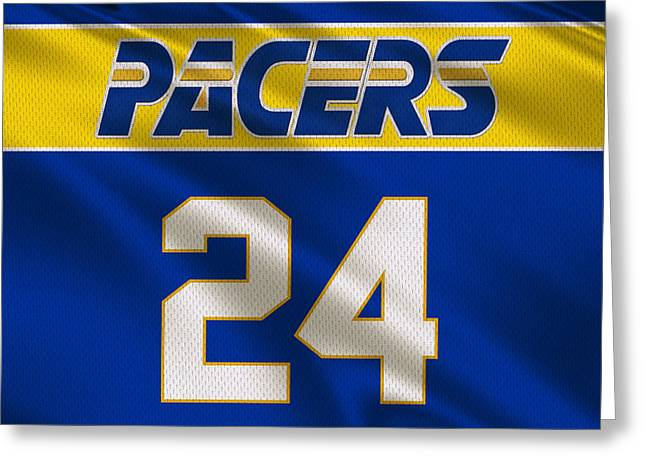Indiana Pacers Uniform Greeting Card by Joe Hamilton