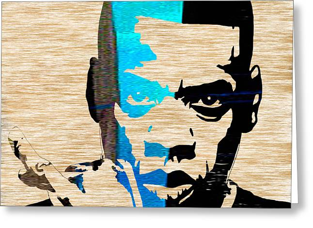 Jay Z Greeting Card by Marvin Blaine