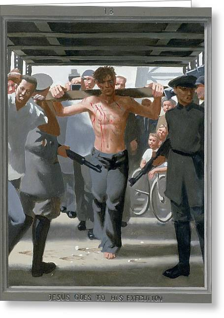 13. Jesus Goes To His Execution / From The Passion Of Christ - A Gay Vision Greeting Card by Douglas Blanchard