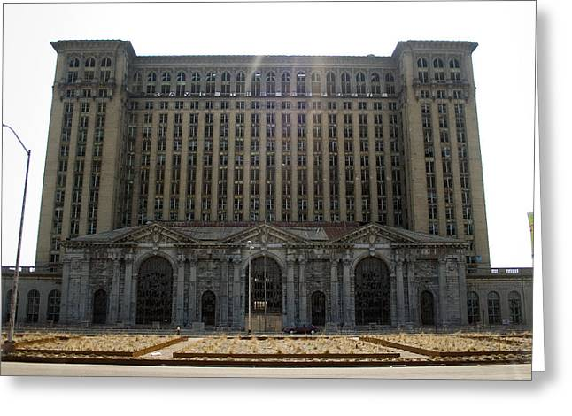Michigan Central Station Greeting Card by Gary Marx