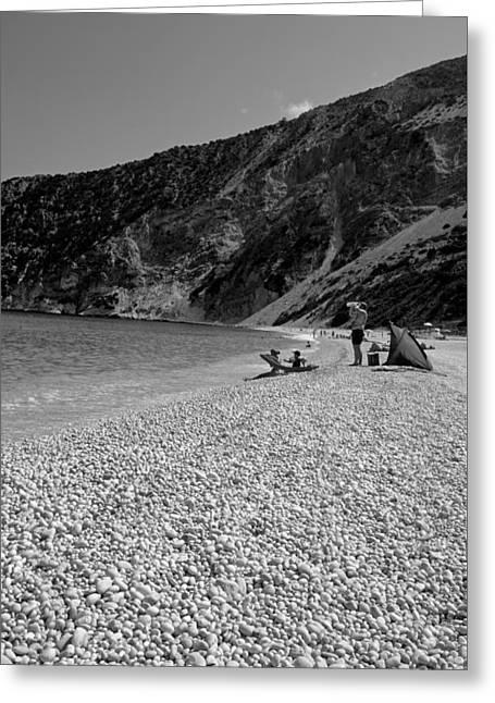 Myrtos Beach Greeting Card by George Atsametakis