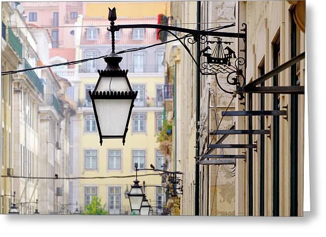 Portugal, Lisbon Greeting Card by Emily Wilson