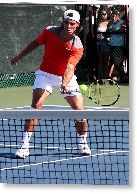 Rafael Nadal Greeting Card by James Marvin Phelps