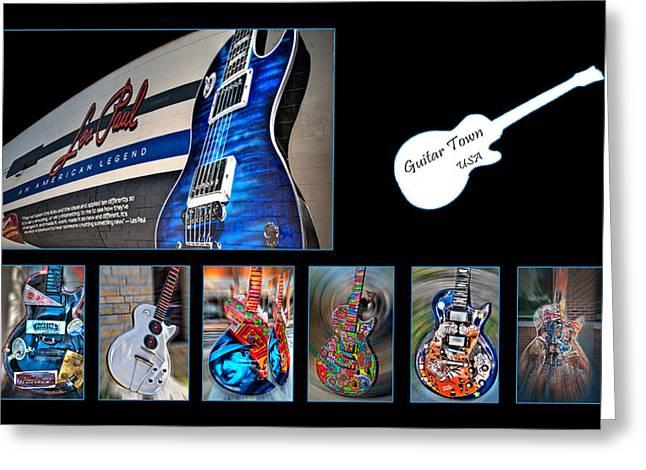Rock N Roll Collection Greeting Card by Deborah Klubertanz