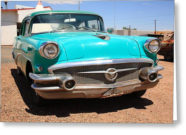 Route 66 Classic Car Greeting Card by Frank Romeo