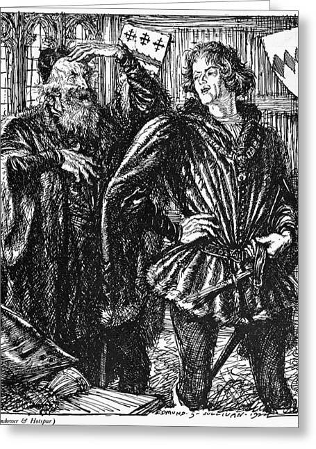 Shakespeare Henry Iv Greeting Card by Granger