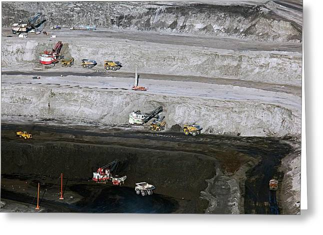Surface Coal Mine Greeting Card by Jim West