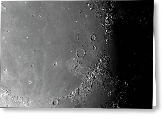 Surface Of The Moon Greeting Card by Detlev Van Ravenswaay