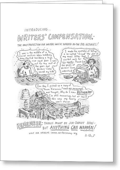 Writers' Compensation Greeting Card