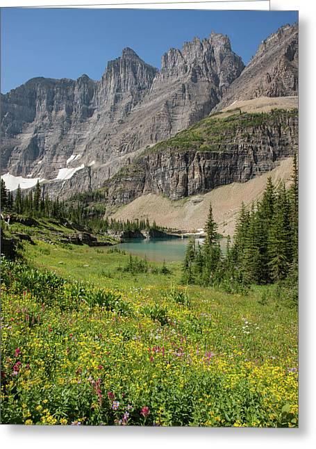 Usa, Montana, Glacier National Park Greeting Card