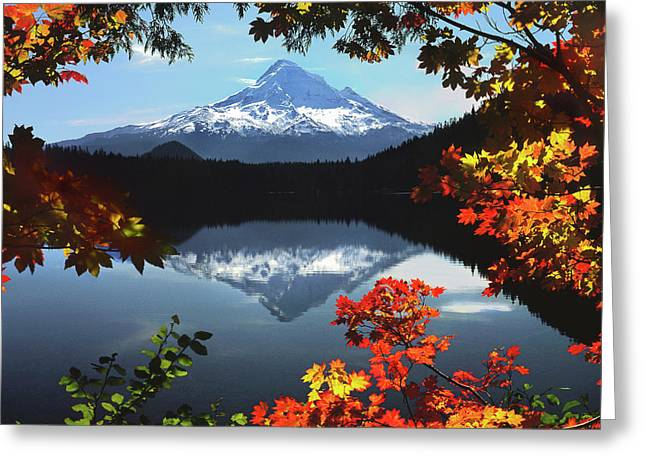 Usa, Oregon, Mt Hood National Forest Greeting Card