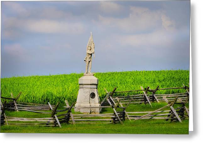 132 Pennsylvania Volunteer Infantry - Antietam Maryland Greeting Card by Bill Cannon