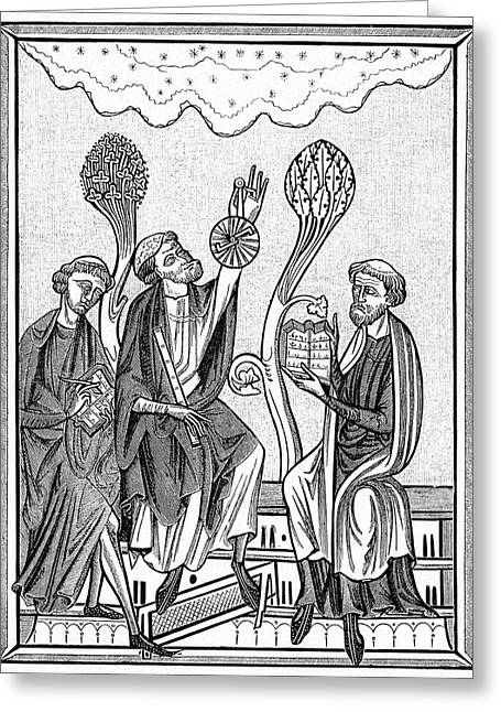 13th Century Astronomers Greeting Card