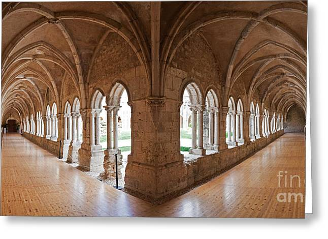 13th Century Gothic Cloister Greeting Card by Jose Elias - Sofia Pereira