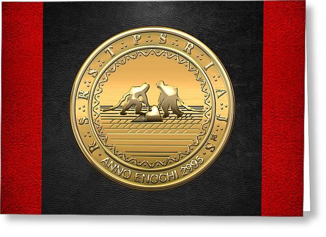 13th Degree Mason - Royal Arch Of Solomon Masonic Jewel  Greeting Card