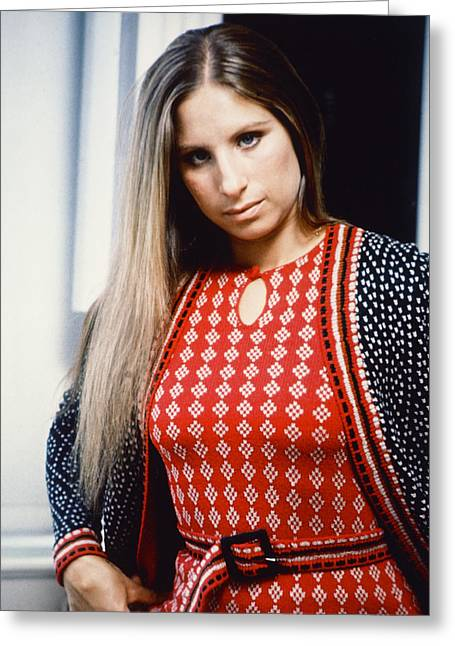 Barbra Streisand Greeting Card by Silver Screen