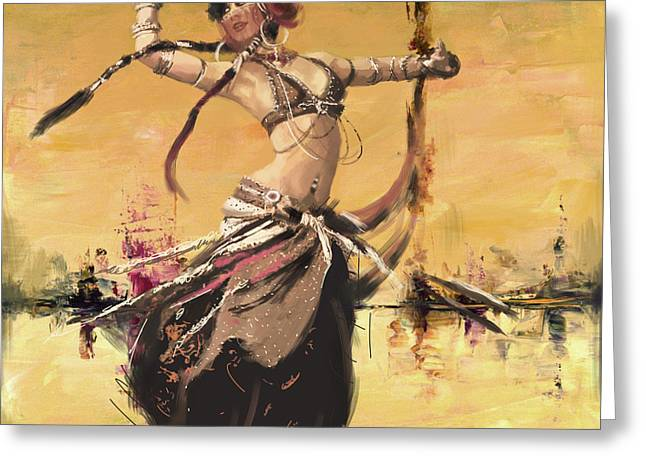 Abstract Belly Dancer 14 Greeting Card