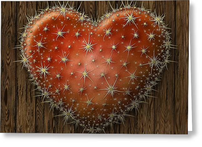 Cactus Heart Greeting Card