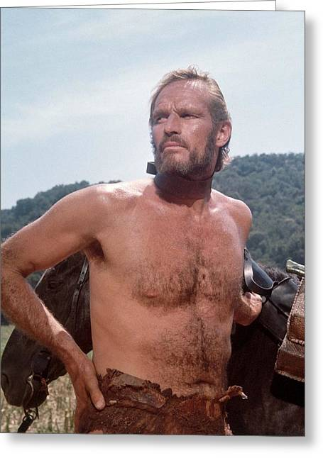 Charlton Heston In Planet Of The Apes  Greeting Card by Silver Screen