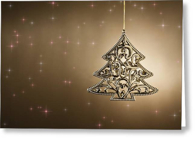 Christmas Tree Ornament Greeting Card by Ulrich Schade