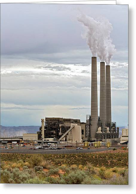 Coal-fired Power Station Greeting Card by Jim West