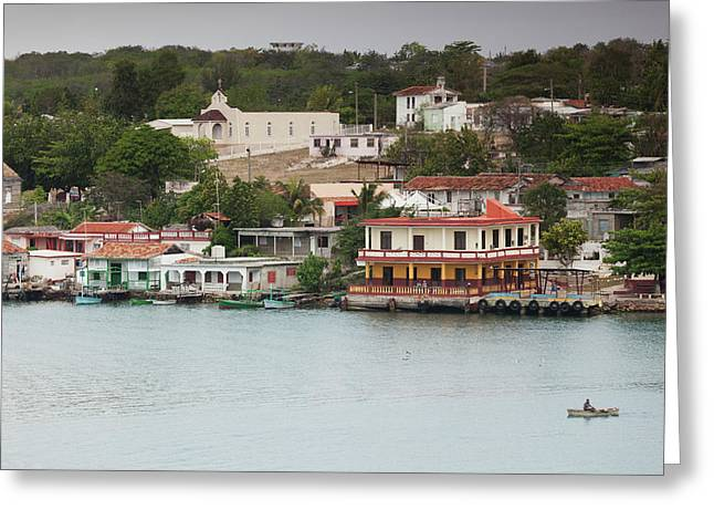Cuba, Cienfuegos Province, Cienfuegos Greeting Card by Walter Bibikow