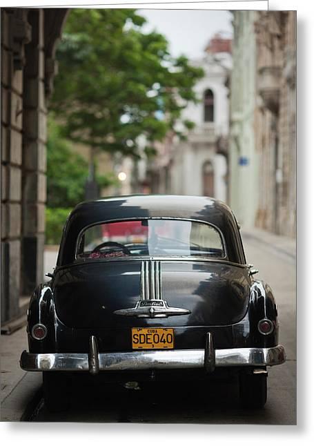 Cuba, Havana, Havana Vieja, Morning Greeting Card by Walter Bibikow